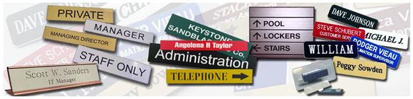 Roland EGX-20 Sample - NameTags, Desk Plates, & Office Directories
